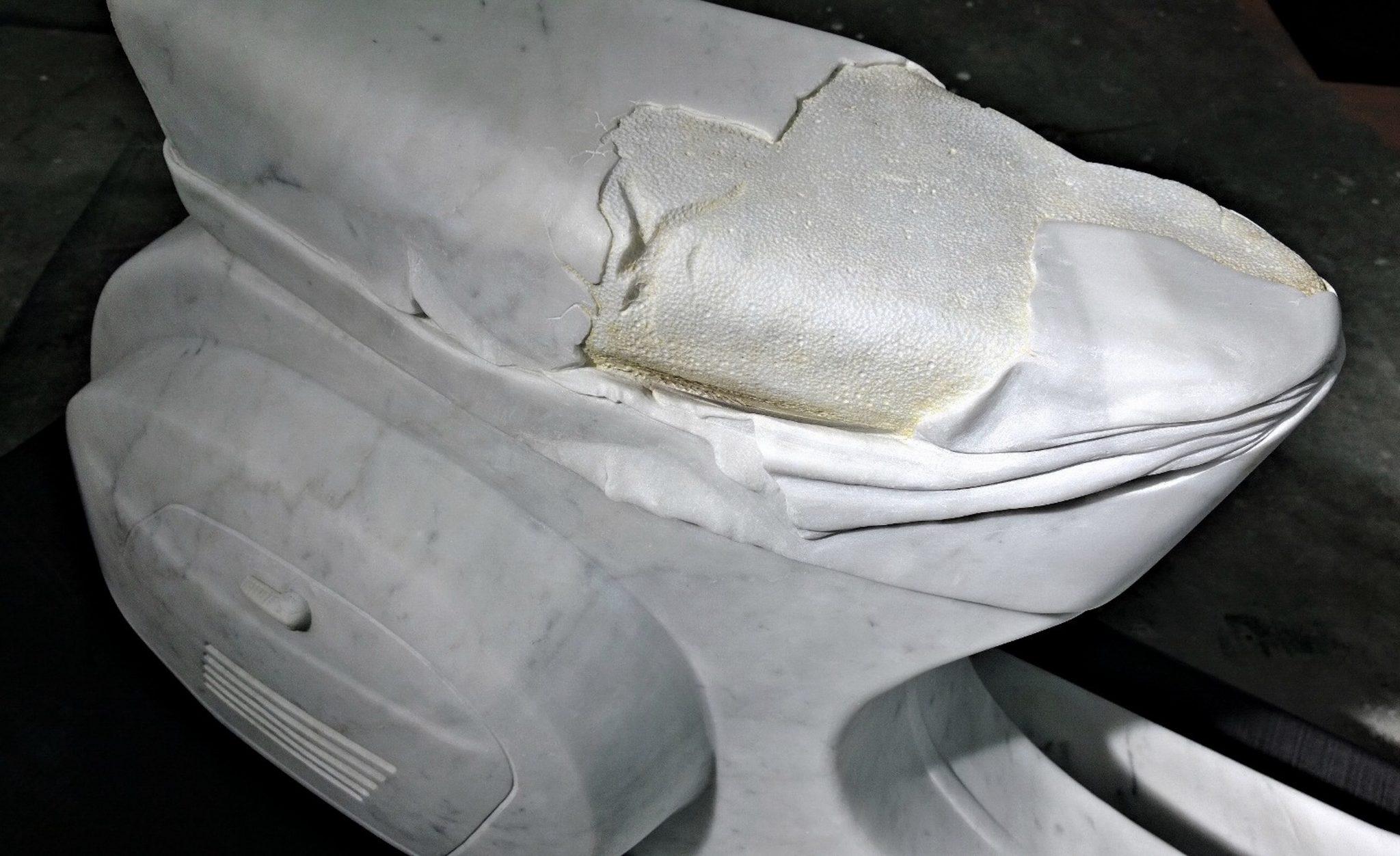 Nazareno Biondo Midsummer Night's Dream marmo bianco Carrara 160x70x50cm 2011 collab.Daniele Miola…. ..
