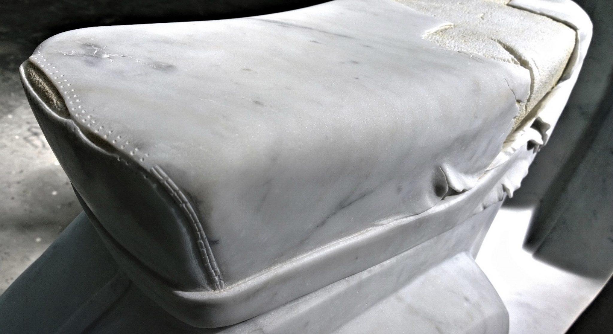 Nazareno Biondo Midsummer Night's Dream marmo bianco Carrara 160x70x50cm 2011 collab.Daniele Miola….. ..