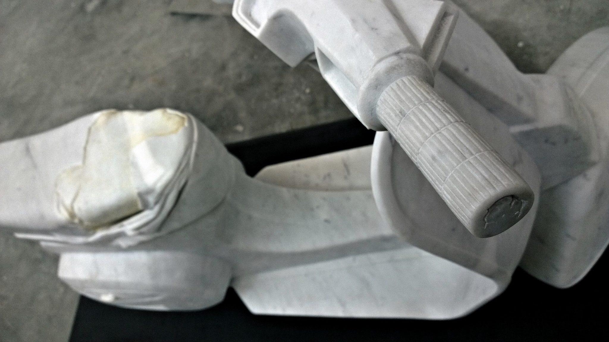 Nazareno Biondo Midsummer Night's Dream marmo bianco Carrara 160x70x50cm 2011 collab.Daniele Miola…..