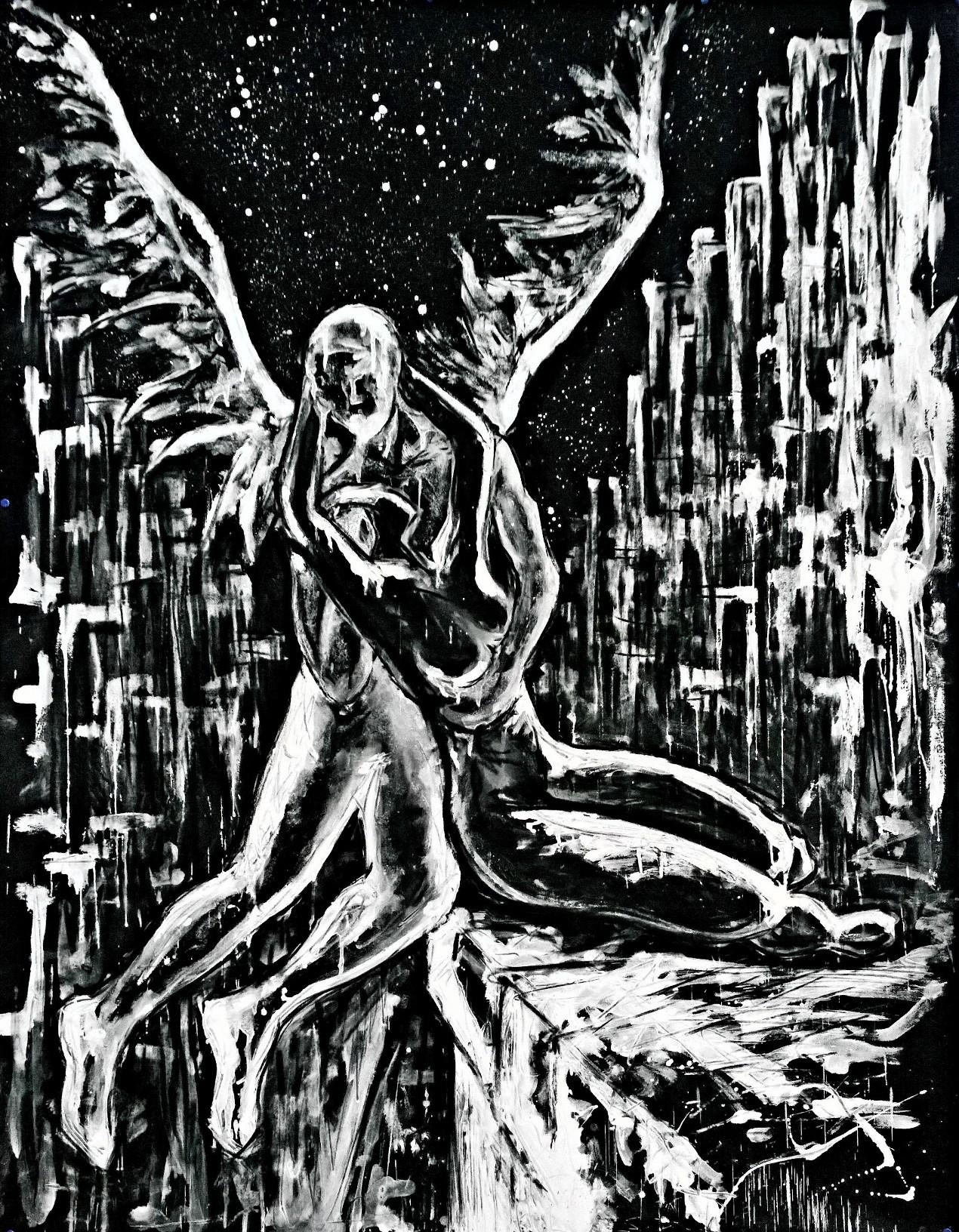 Nazareno Biondo Psico-Love polvere di marmo su tela 2016