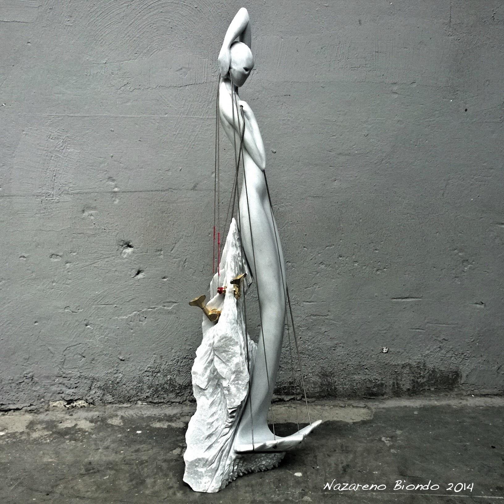 Nazareno Biondo Siren's Singing marmo di Carrara 85x30x30cm 2014