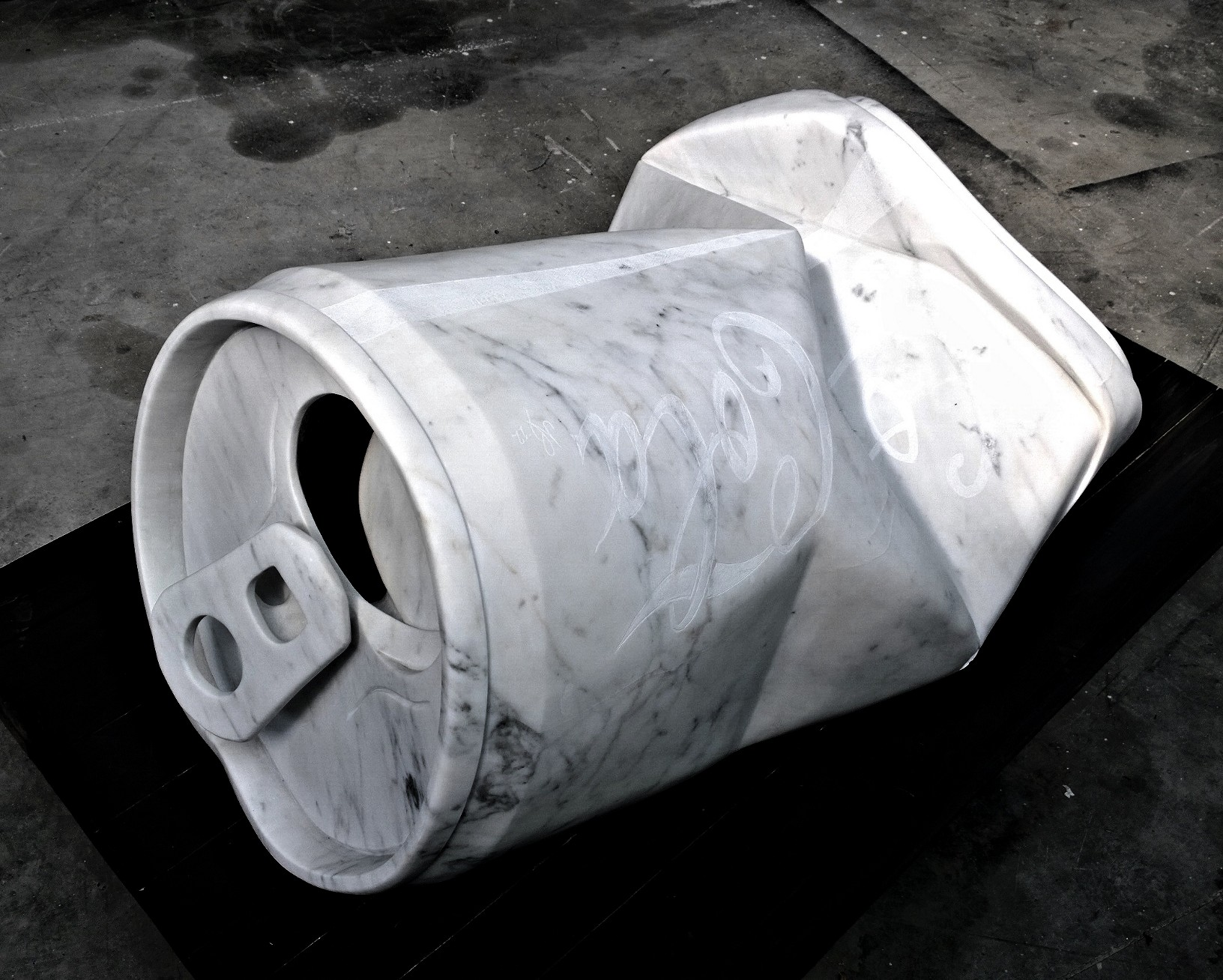 Nazareno Biondo _God's Coca_ marmo di Carrara 150x90x70cm 2012…